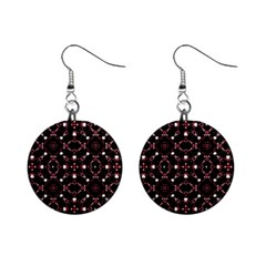 Futuristic Dark Pattern Mini Button Earrings