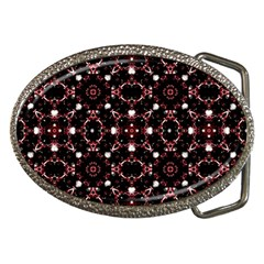 Futuristic Dark Pattern Belt Buckle (Oval)