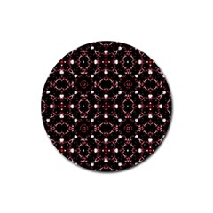 Futuristic Dark Pattern Drink Coaster (round)