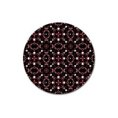 Futuristic Dark Pattern Magnet 3  (round)