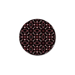 Futuristic Dark Pattern Golf Ball Marker
