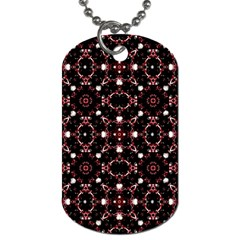 Futuristic Dark Pattern Dog Tag (two Sided)
