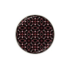 Futuristic Dark Pattern Golf Ball Marker 4 Pack (for Hat Clip)