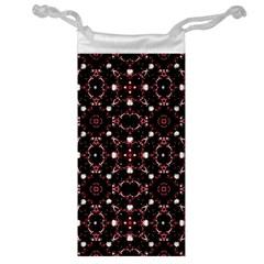 Futuristic Dark Pattern Jewelry Bag
