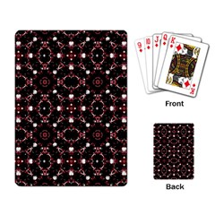 Futuristic Dark Pattern Playing Cards Single Design