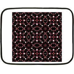 Futuristic Dark Pattern Mini Fleece Blanket (Two Sided)