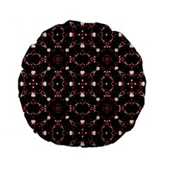 Futuristic Dark Pattern 15  Premium Round Cushion