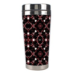 Futuristic Dark Pattern Stainless Steel Travel Tumbler