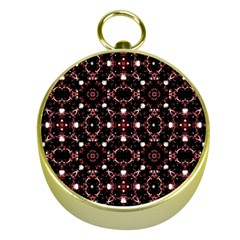 Futuristic Dark Pattern Gold Compass