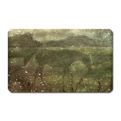 Flora And Fauna Dreamy Collage Magnet (rectangular)