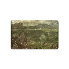 Flora And Fauna Dreamy Collage Magnet (name Card)