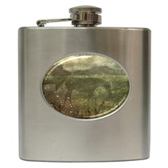 Flora And Fauna Dreamy Collage Hip Flask