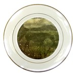 Flora And Fauna Dreamy Collage Porcelain Display Plate Front