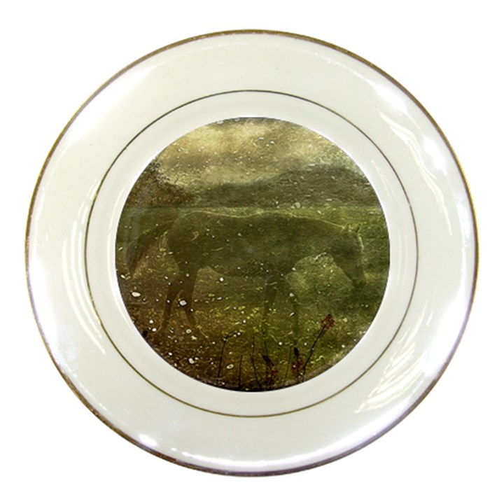 Flora And Fauna Dreamy Collage Porcelain Display Plate