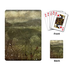 Flora And Fauna Dreamy Collage Playing Cards Single Design
