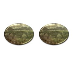 Flora And Fauna Dreamy Collage Cufflinks (oval)
