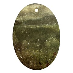 Flora And Fauna Dreamy Collage Oval Ornament (two Sides)