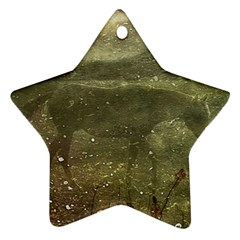 Flora And Fauna Dreamy Collage Star Ornament (two Sides)