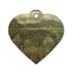 Flora And Fauna Dreamy Collage Dog Tag Heart (one Sided)