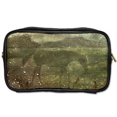 Flora And Fauna Dreamy Collage Travel Toiletry Bag (one Side)