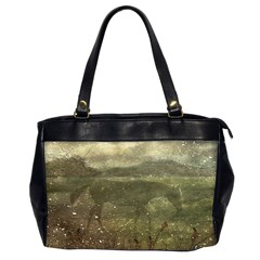 Flora And Fauna Dreamy Collage Oversize Office Handbag (Two Sides)