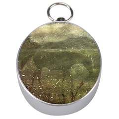Flora And Fauna Dreamy Collage Silver Compass
