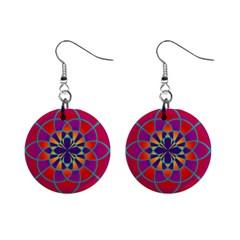 Mandala Mini Button Earrings