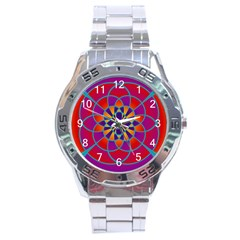 Mandala Stainless Steel Watch