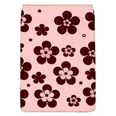 Pink With Brown Flowers Removable Flap Cover (large)