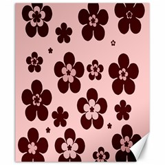 Pink With Brown Flowers Canvas 20  x 24  (Unframed)