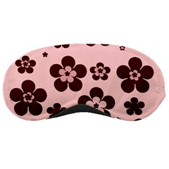 Pink With Brown Flowers Sleeping Mask
