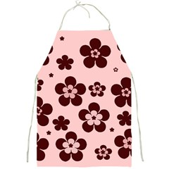 Pink With Brown Flowers Apron