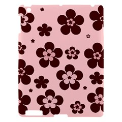 Pink With Brown Flowers Apple Ipad 3/4 Hardshell Case
