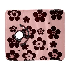 Pink With Brown Flowers Samsung Galaxy S  III Flip 360 Case