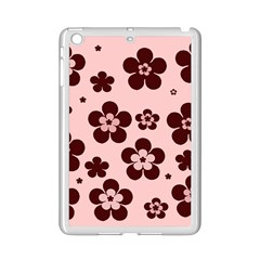 Pink With Brown Flowers Apple Ipad Mini 2 Case (white)