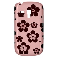Pink With Brown Flowers Samsung Galaxy S3 Mini I8190 Hardshell Case