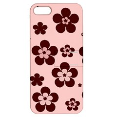 Pink With Brown Flowers Apple Iphone 5 Hardshell Case With Stand