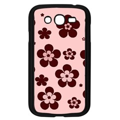 Pink With Brown Flowers Samsung Galaxy Grand DUOS I9082 Case (Black)