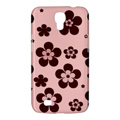 Pink With Brown Flowers Samsung Galaxy Mega 6 3  I9200 Hardshell Case