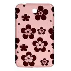 Pink With Brown Flowers Samsung Galaxy Tab 3 (7 ) P3200 Hardshell Case