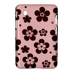Pink With Brown Flowers Samsung Galaxy Tab 2 (7 ) P3100 Hardshell Case