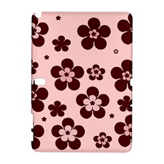 Pink With Brown Flowers Samsung Galaxy Note 10.1 (P600) Hardshell Case