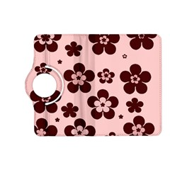 Pink With Brown Flowers Kindle Fire HD 7  (2nd Gen) Flip 360 Case