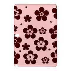 Pink With Brown Flowers Samsung Galaxy Tab Pro 12 2 Hardshell Case