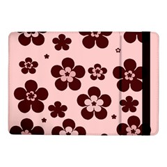 Pink With Brown Flowers Samsung Galaxy Tab Pro 10.1  Flip Case