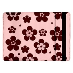 Pink With Brown Flowers Samsung Galaxy Tab Pro 12.2  Flip Case