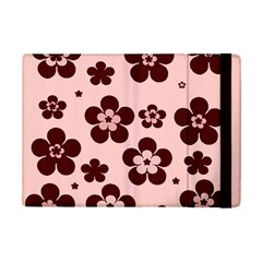 Pink With Brown Flowers Apple Ipad Mini 2 Flip Case