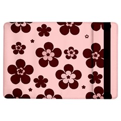 Pink With Brown Flowers Apple iPad Air Flip Case