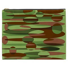 Green and Brown Spheres by Khoncepts.com Cosmetic Bag (XXXL)