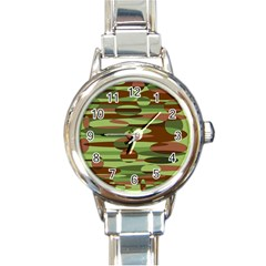Green And Brown Spheres By Khoncepts Com Round Italian Charm Watch